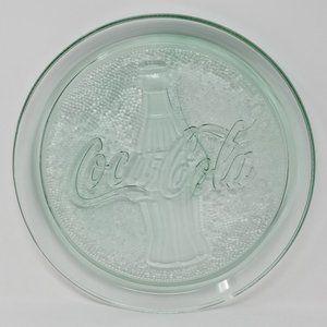 Coca Cola Coke Bottle Tray Pebbled Glass Vintage